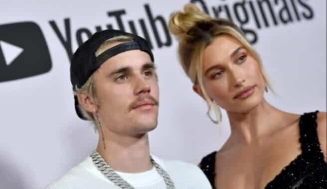 Justin Bieber and Hailey Baldwin in the same clip