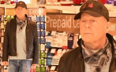 Unmasked Bruce Willis expelled from the pharmacy!