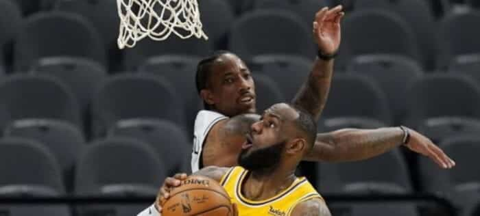 In the NBA, the Lakers beat the Spurs in the match that LeBron James made history